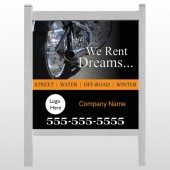 "Rent Dreams 109 48""H x 48""W Site Sign"