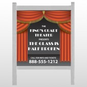 "Theatre Curtains 521 48""H x 48""W Site Sign"