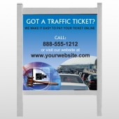 "Traffic Cars 151 48""H x 48""W Site Sign"