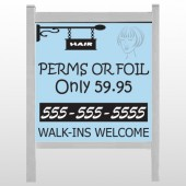"Woman Hair Sign 289 48""H x 48""W Site Sign"