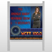 """Amp Morning Show 439 48""""H x 48""""W Site Sign"""