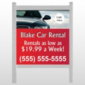 "Car Rental 112 48""H x 48""W Site Sign"