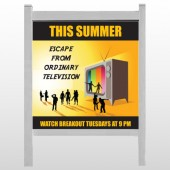 "Television 525 48""H x 48""W Site Sign"