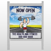 "Road Workout 407 48""H x 48""W Site Sign"