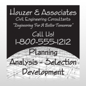 Black Planning 218 Site Sign