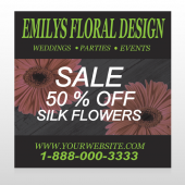 Black And Floral 496 Site Sign