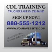CDL Training 155 Custom Sign