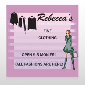 Fine Clothing 531 Site Sign
