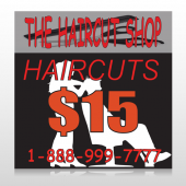 Haircut Scissors 644 Site Sign