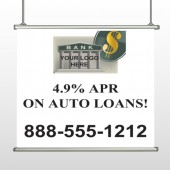 Auto Loan 173 Hanging Banner