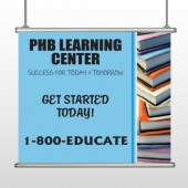 Book Learning 156 Hanging Banner