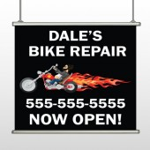 Harley Flame 108 Hanging Banner