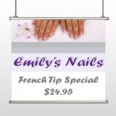 Nails 295 Hanging Banner