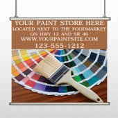 Paint Brushes 256 Hanging Banner