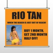 Rio Tan Beach 489 Hanging Banner