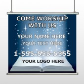 Worship With Us 02 Hanging Banner