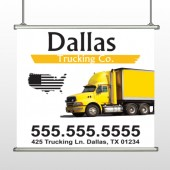 Yellow Truck 296 Hanging Banner
