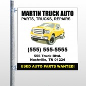 Black & Yellow Truck 117 Pole Banner