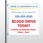 Blood Drive 97 Pole Banner