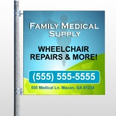Family Medical 138  Pole Banner