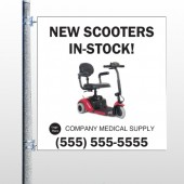 New Scooter 100  Pole Banner