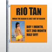 Rio Tan Beach 489 Pole Banner