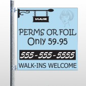 Woman Hair Sign 289 Pole Banner
