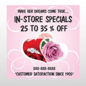 Pink Rose Hide Ring 400 Custom Sign