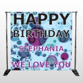 Birthday Dots 16 Pocket Banner Stand