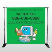 Cartoon Computer 431 Pocket Banner Stand