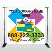 Cleaning Supplies 451 Pocket Banner Stand