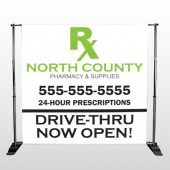 RX North County 105 Pocket Banner Stand