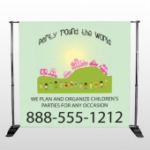World Party Plan 520 Pocket Banner Stand
