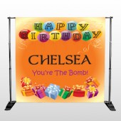 Birthday Balloons 185 Pocket Banner Stand