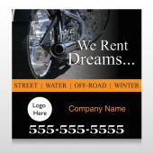 Rent Dreams 109 Custom Decal