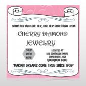 Scroll Pink Heart 397 Custom Decal