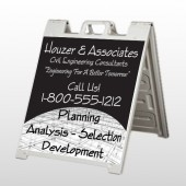 Black Planning 218 A Frame Sign