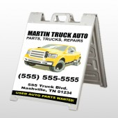 Black & Yellow Truck 117 A Frame Sign