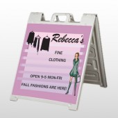 Fine Clothing 531 A Frame Sign
