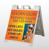 Golden Glow 491 A Frame Sign