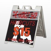 Haircut Scissors 644 A Frame Sign