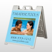 Paradise Pool 529 A Frame Sign