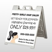 Pretty Girl Hair 290 A Frame Sign