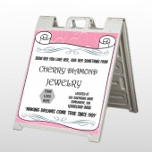 Scroll Pink Heart 397 A Frame Sign