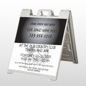 Silhouette Band 366 A Frame Sign