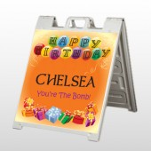 Birthday Balloons 185 A Frame Sign