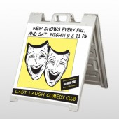 Comedy Mask 516 A Frame Sign