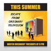 Television 525 Custom Sign