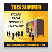 Television 525 Site Sign
