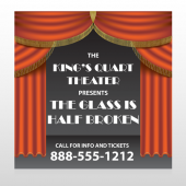 Theatre Curtains 521 Custom Sign